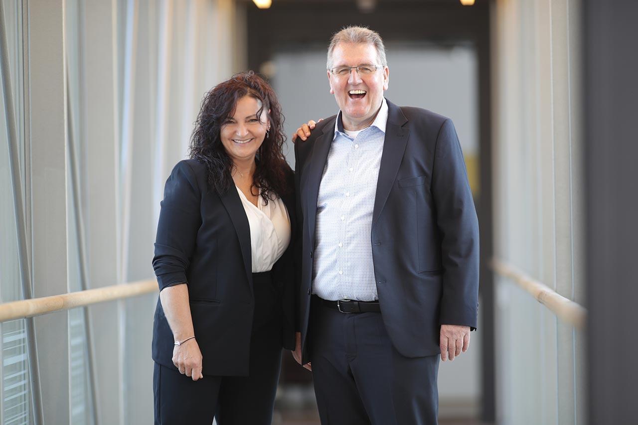 Manfred Santanius und Christine Richter-Leidigkeit